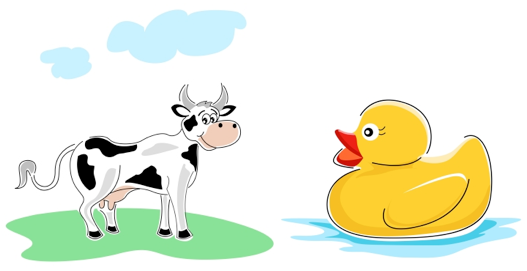 drama game duck cow